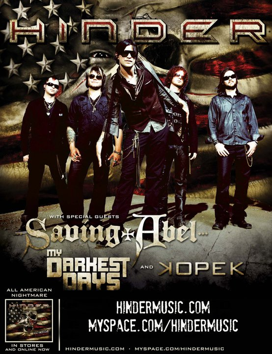 Hinder My Darkest Days Saving Abel