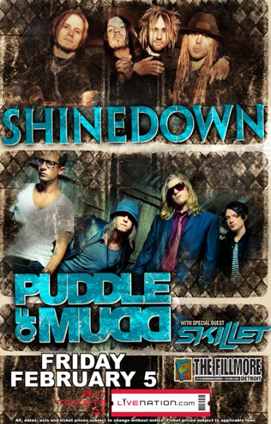 Shinedown Puddle of Mudd Skillet