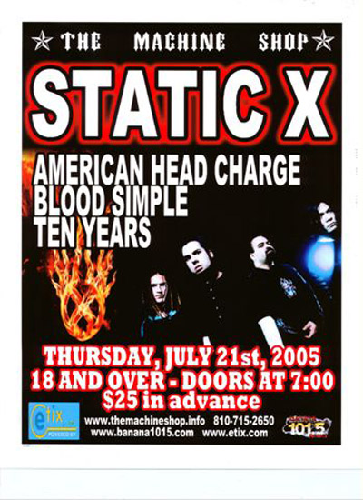 Static X American Head Charge Bloodsimple 10 Years